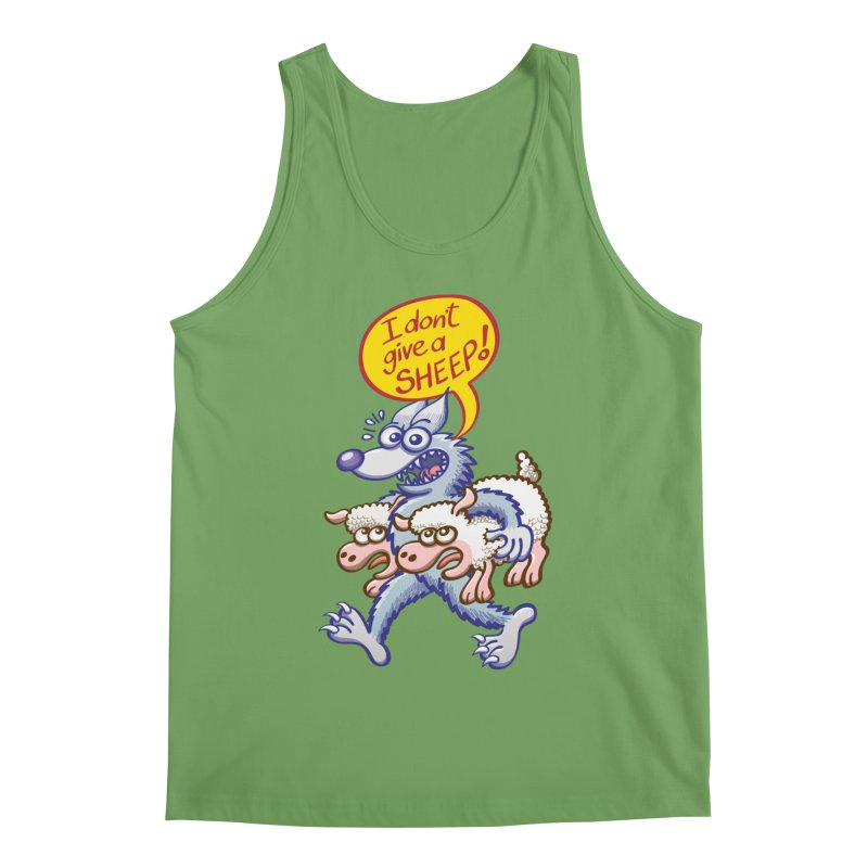 Terrific wolf making puns by saying that he doesn't give a sheep Men's Tank by Zoo&co's Artist Shop