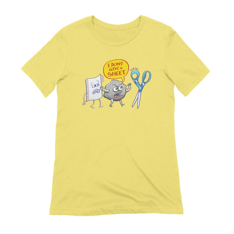Angry rock doesn't give a sheet of paper to scissors Women's T-Shirt by Zoo&co's Artist Shop