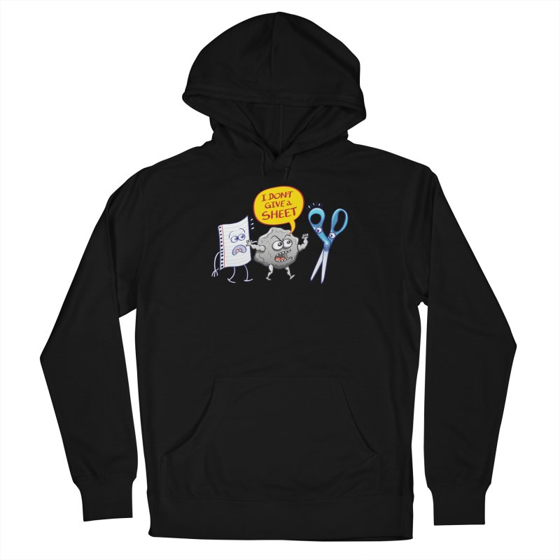 Angry rock doesn't give a sheet of paper to scissors Men's Pullover Hoody by Zoo&co's Artist Shop