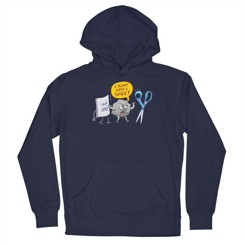 Angry rock doesn't give a sheet of paper to scissors Women's Pullover Hoody by Zoo&co's Artist Shop