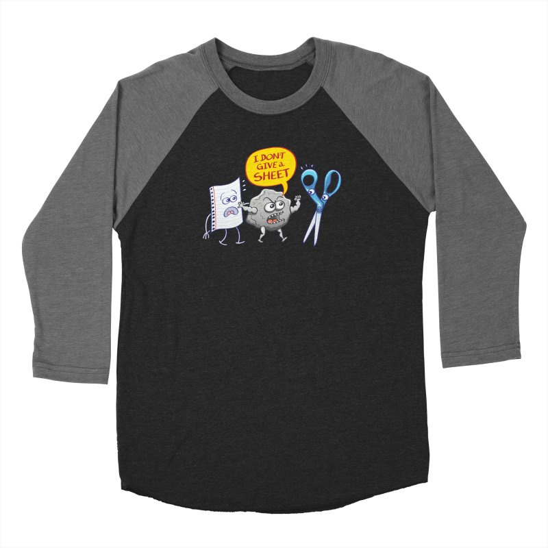 Angry rock doesn't give a sheet of paper to scissors Men's Longsleeve T-Shirt by Zoo&co's Artist Shop