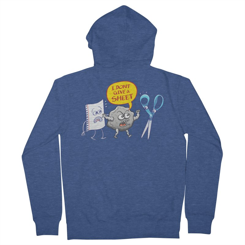 Angry rock doesn't give a sheet of paper to scissors Men's Zip-Up Hoody by Zoo&co's Artist Shop