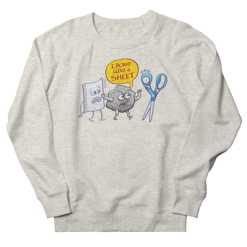 Angry rock doesn't give a sheet of paper to scissors Men's Sweatshirt by Zoo&co's Artist Shop
