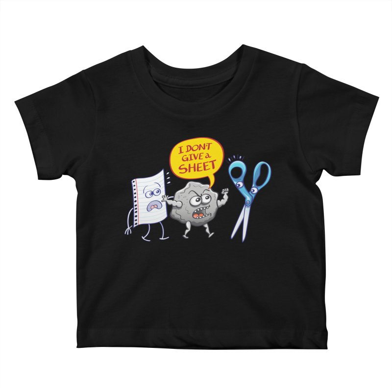 Angry rock doesn't give a sheet of paper to scissors Kids Baby T-Shirt by Zoo&co's Artist Shop