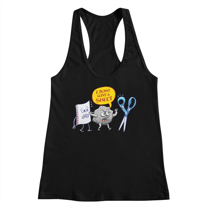 Angry rock doesn't give a sheet of paper to scissors Women's Tank by Zoo&co's Artist Shop
