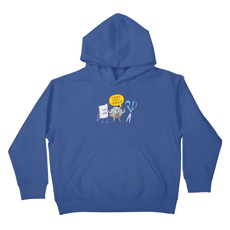 Angry rock doesn't give a sheet of paper to scissors Kids Pullover Hoody by Zoo&co's Artist Shop