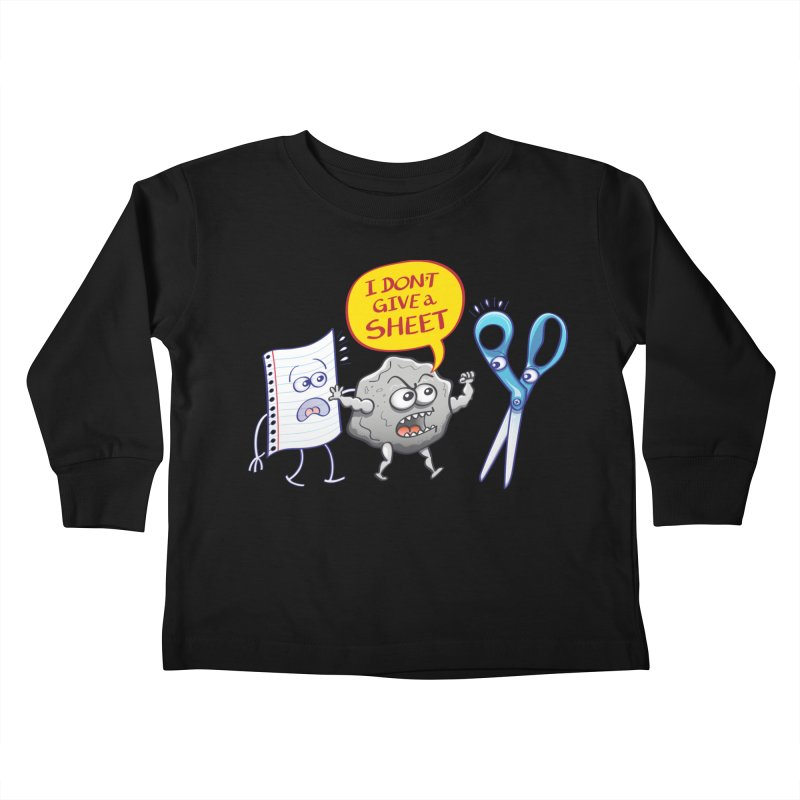 Angry rock doesn't give a sheet of paper to scissors Kids Toddler Longsleeve T-Shirt by Zoo&co's Artist Shop
