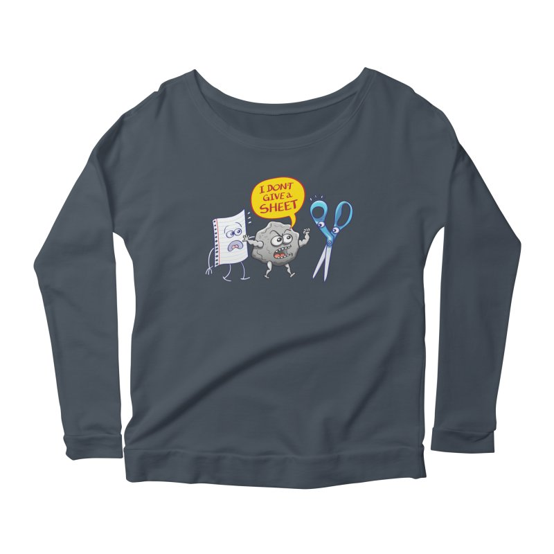 Angry rock doesn't give a sheet of paper to scissors Women's Longsleeve T-Shirt by Zoo&co's Artist Shop