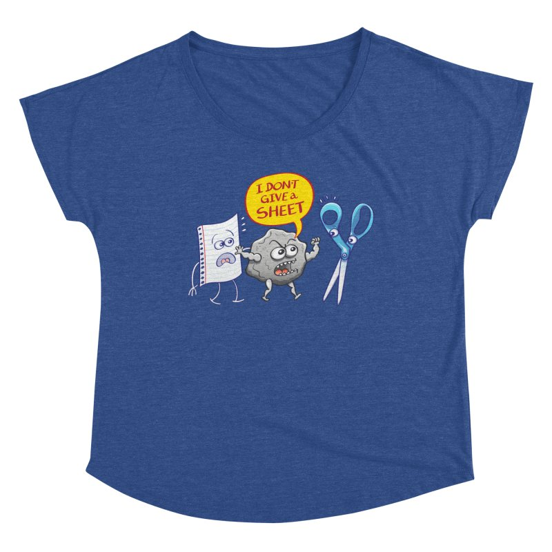 Angry rock doesn't give a sheet of paper to scissors Women's Scoop Neck by Zoo&co's Artist Shop