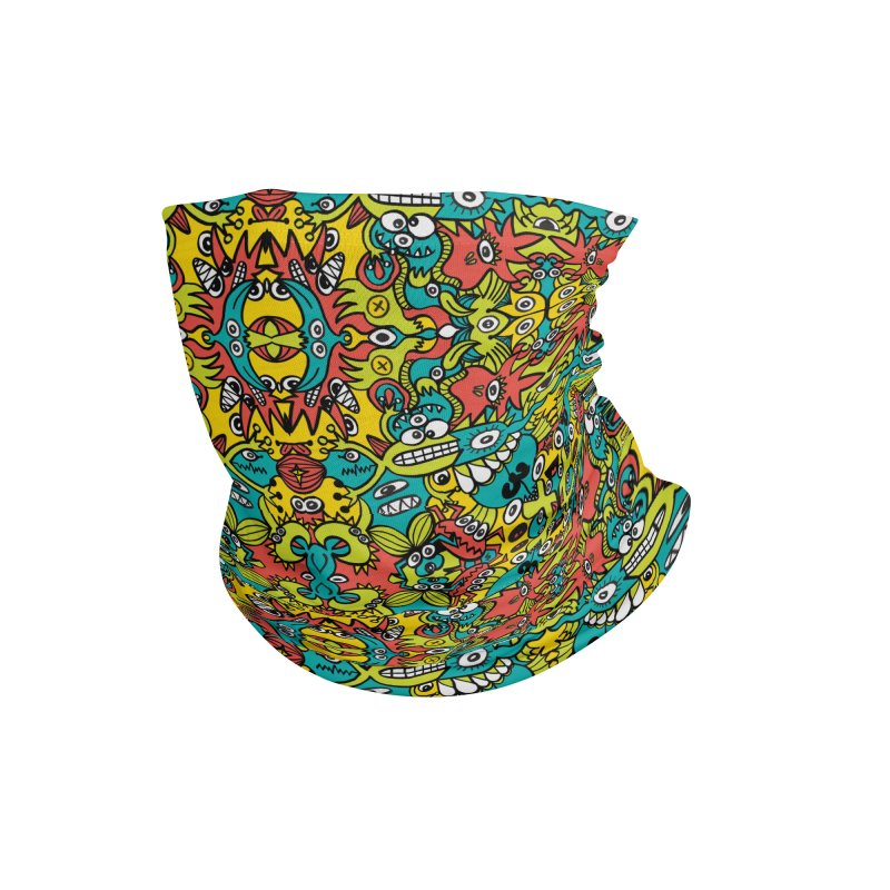 Mutant creatures from the last doodle art experiment in the lab Accessories Neck Gaiter by Zoo&co's Artist Shop