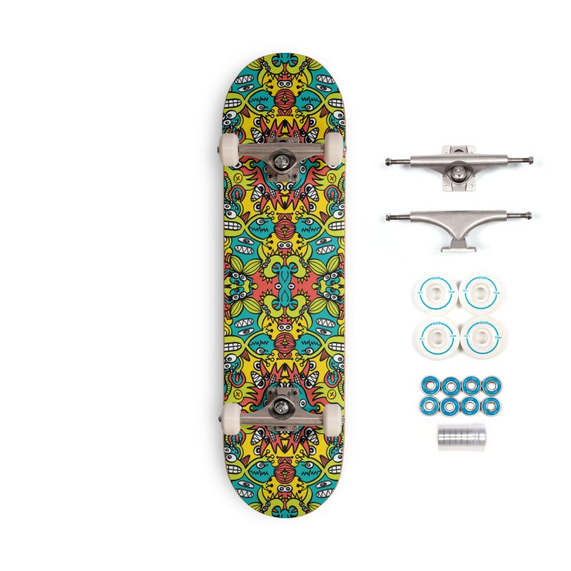 Mutant creatures from the last doodle art experiment in the lab Accessories Skateboard by Zoo&co's Artist Shop