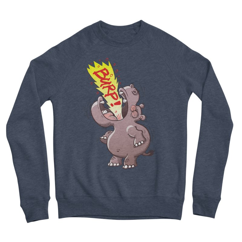 Bold chubby hippopotamus burping loudly with no shame at all Women's Sweatshirt by Zoo&co's Artist Shop