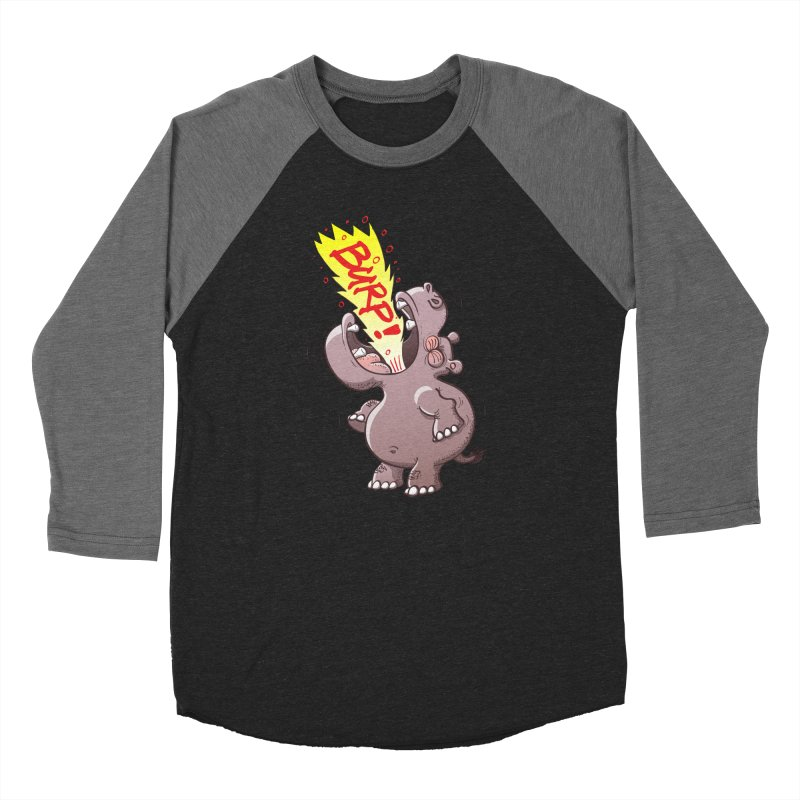 Bold chubby hippopotamus burping loudly with no shame at all Men's Longsleeve T-Shirt by Zoo&co's Artist Shop