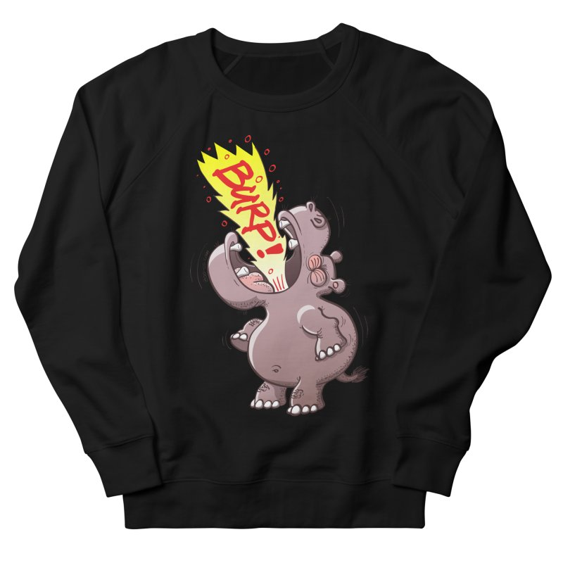 Bold chubby hippopotamus burping loudly with no shame at all Men's Sweatshirt by Zoo&co's Artist Shop