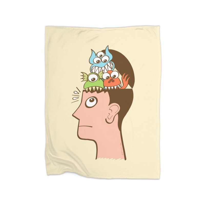 Monsters are inside my head and not under my bed Home Blanket by Zoo&co's Artist Shop