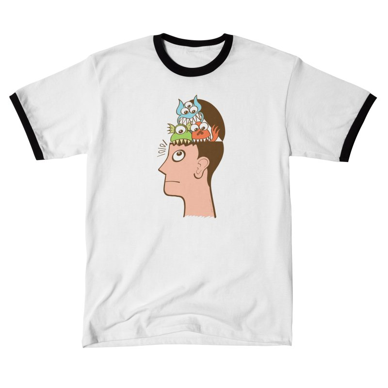 Monsters are inside my head and not under my bed Men's T-Shirt by Zoo&co's Artist Shop