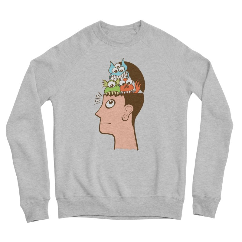 Monsters are inside my head and not under my bed Men's Sweatshirt by Zoo&co's Artist Shop