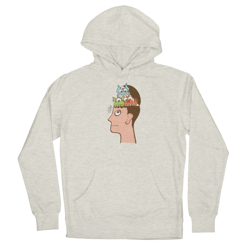 Monsters are inside my head and not under my bed Men's Pullover Hoody by Zoo&co's Artist Shop