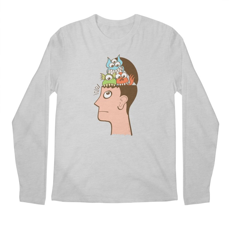 Monsters are inside my head and not under my bed Men's Longsleeve T-Shirt by Zoo&co's Artist Shop