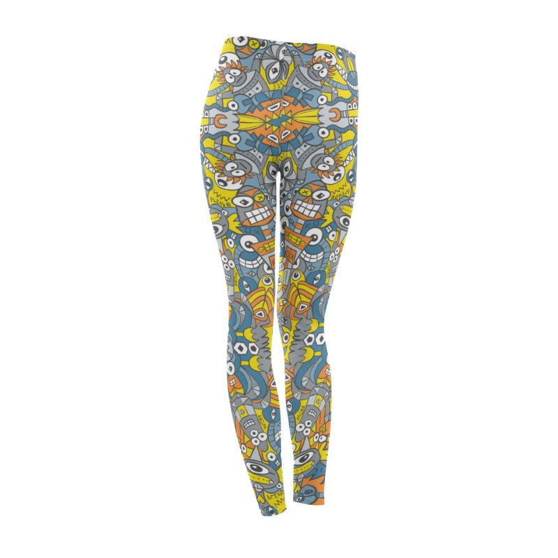 Retro robots are back and just want to have as much fun as possible Women's Bottoms by Zoo&co's Artist Shop