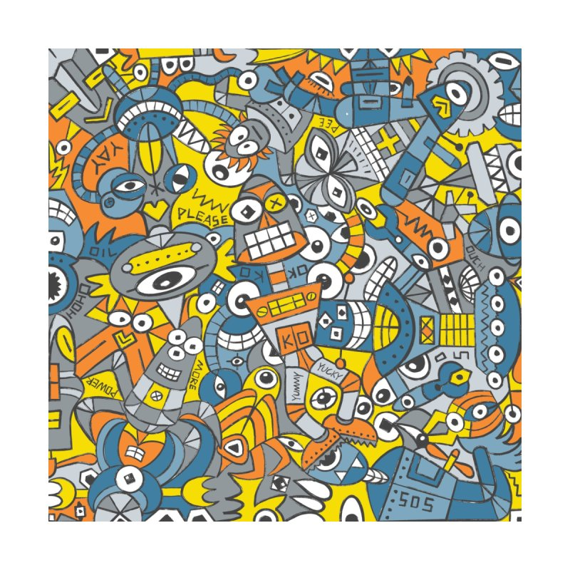 Retro robots are back and just want to have as much fun as possible Home Blanket by Zoo&co's Artist Shop