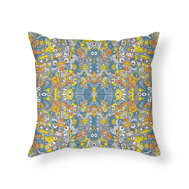 Retro robots are back and just want to have as much fun as possible Home Throw Pillow by Zoo&co's Artist Shop