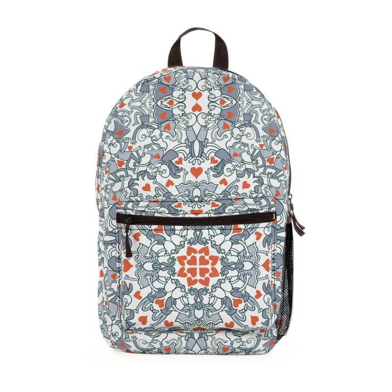 Kisses of love in a mandala design for Valentine's Day Accessories Bag by Zoo&co's Artist Shop