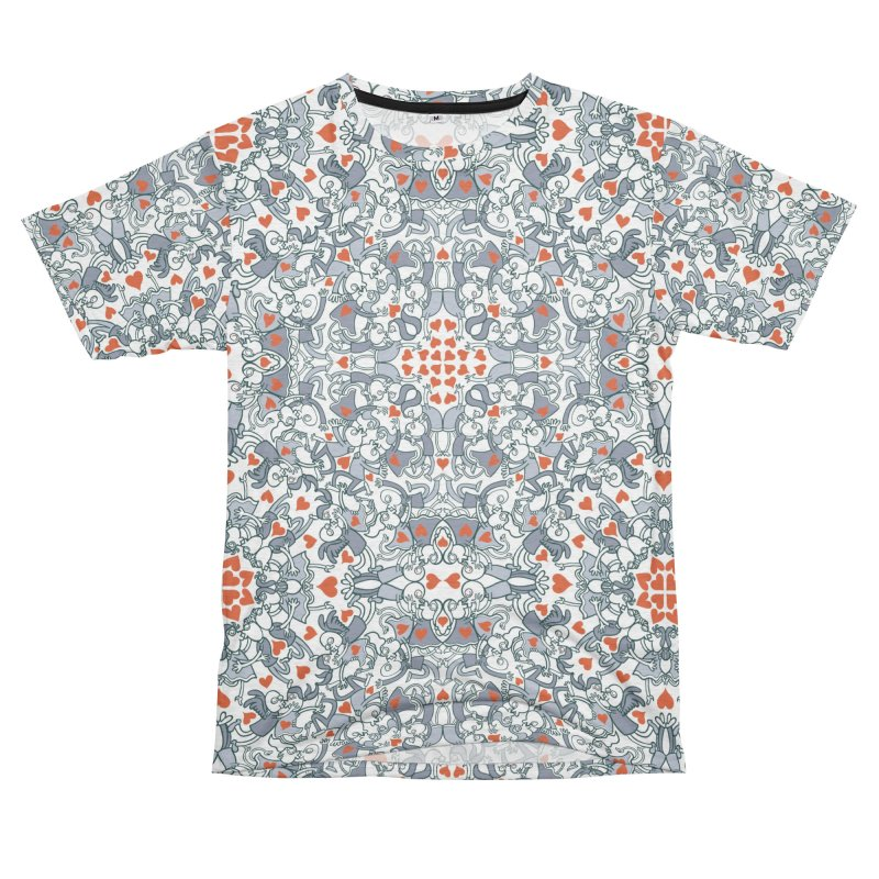 Kisses of love in a mandala design for Valentine's Day Men's Cut & Sew by Zoo&co's Artist Shop