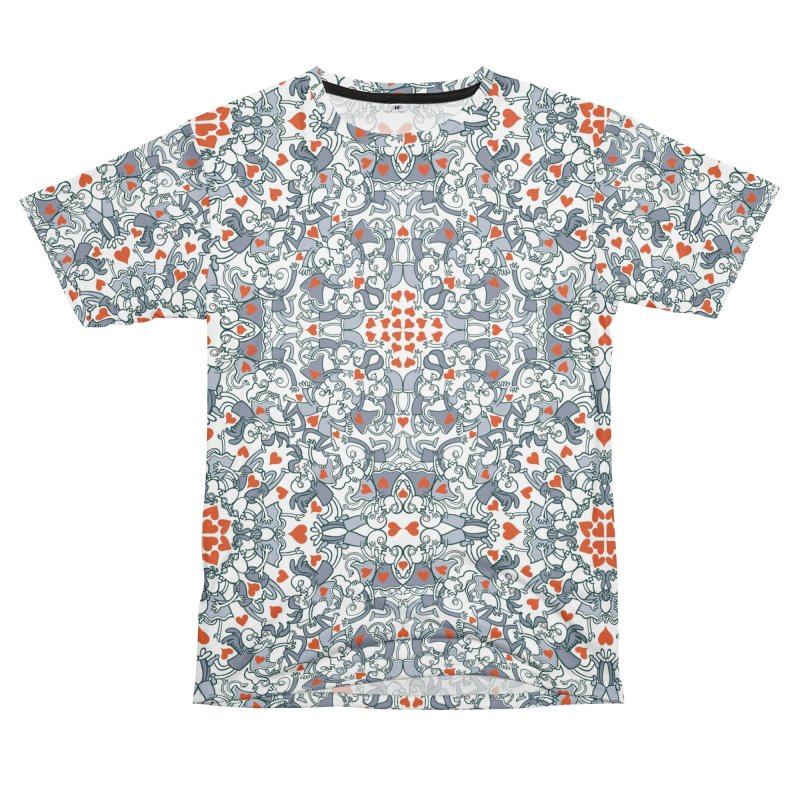 Kisses of love in a mandala design for Valentine's Day Women's Cut & Sew by Zoo&co's Artist Shop