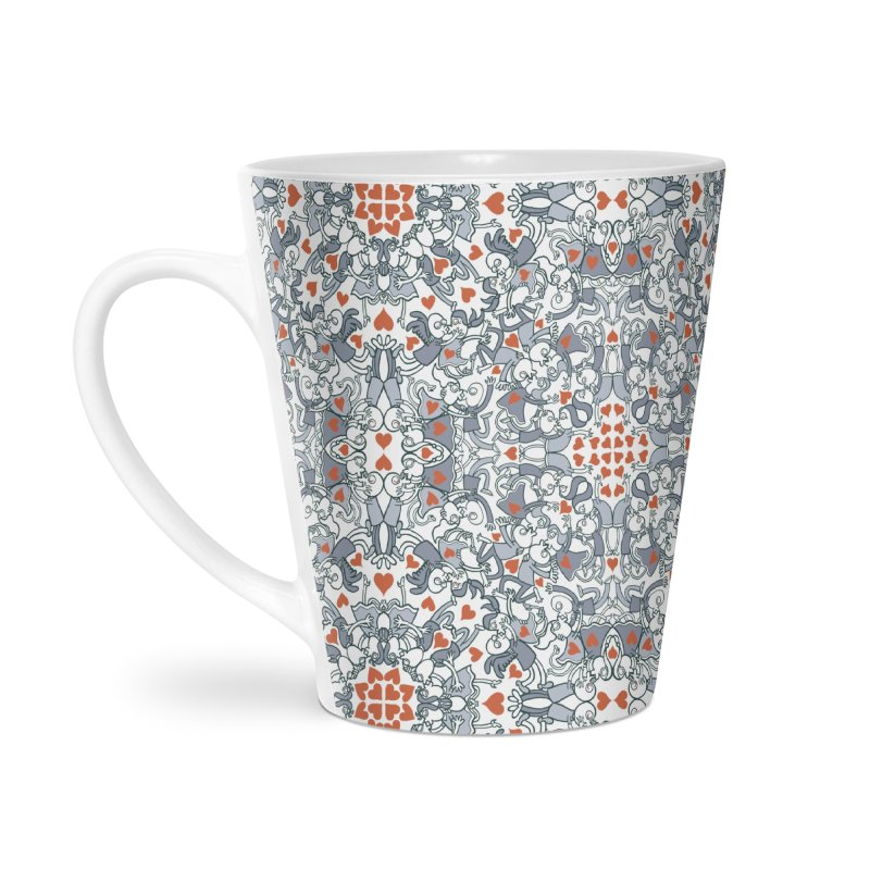 Kisses of love in a mandala design for Valentine's Day Accessories Mug by Zoo&co's Artist Shop