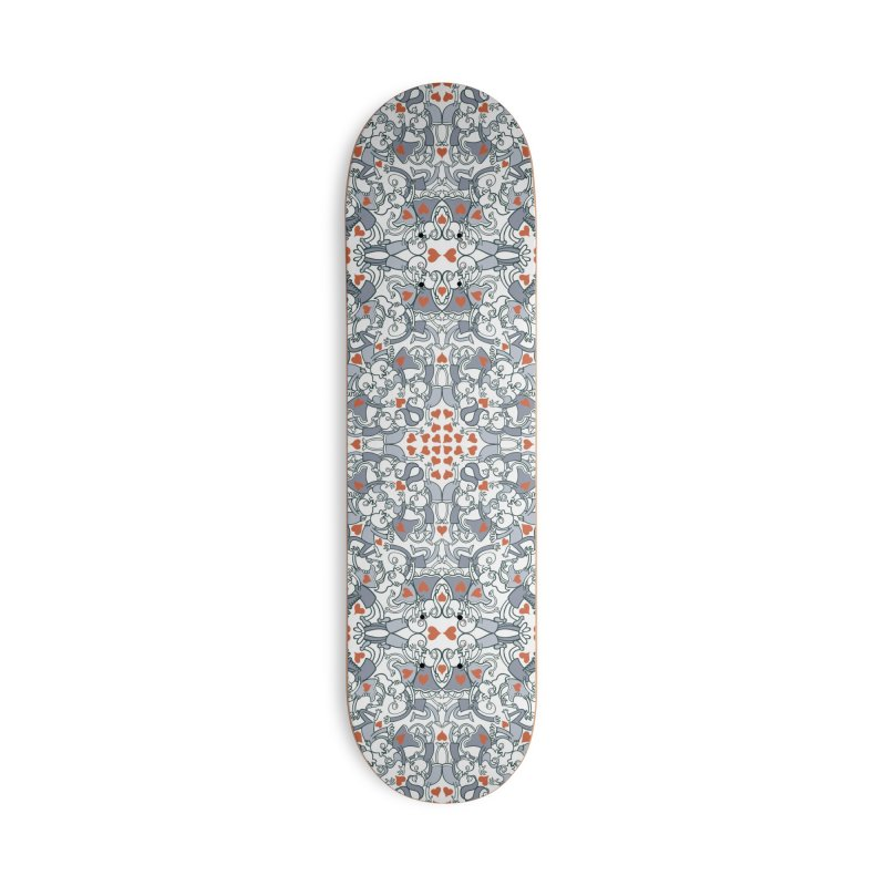 Kisses of love in a mandala design for Valentine's Day Accessories Skateboard by Zoo&co's Artist Shop