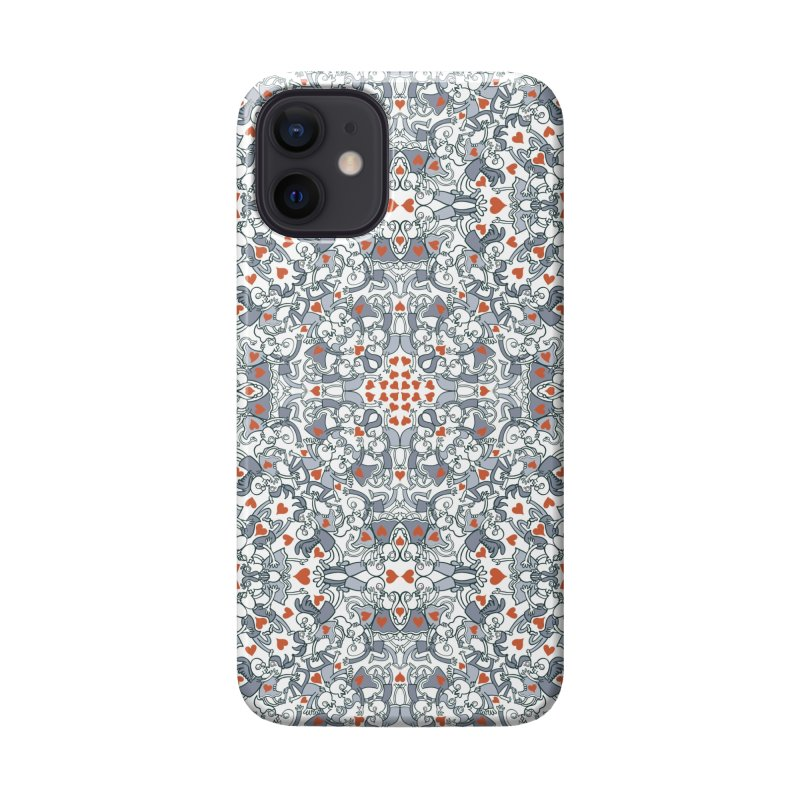 Kisses of love in a mandala design for Valentine's Day Accessories Phone Case by Zoo&co's Artist Shop