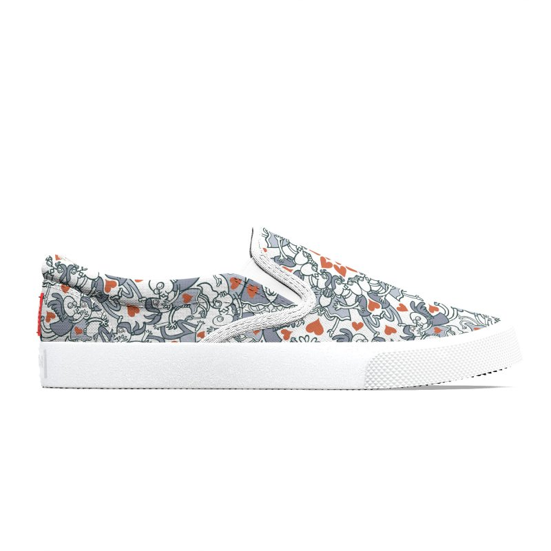 Kisses of love in a mandala design for Valentine's Day Men's Shoes by Zoo&co's Artist Shop