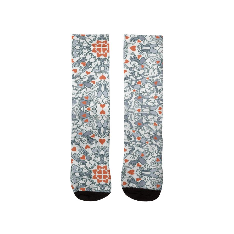 Kisses of love in a mandala design for Valentine's Day Women's Socks by Zoo&co's Artist Shop