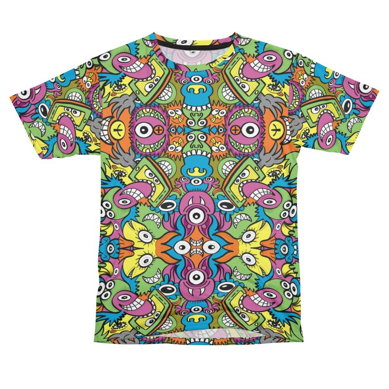 Funny smiling characters in a whimsical pattern design Women's Cut & Sew by Zoo&co's Artist Shop