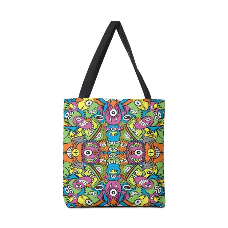 Funny smiling characters in a whimsical pattern design Accessories Bag by Zoo&co's Artist Shop