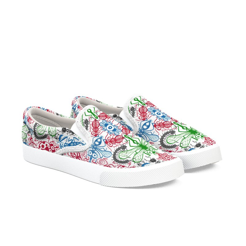 Funny bugs going for a beautiful choreography pattern design Women's Shoes by Zoo&co's Artist Shop