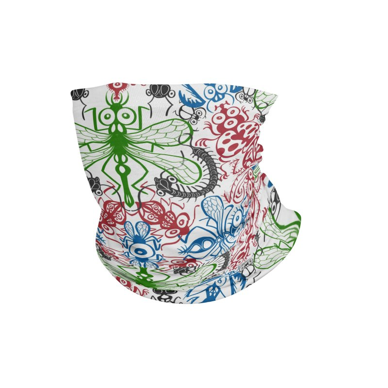 Funny bugs going for a beautiful choreography pattern design Accessories Neck Gaiter by Zoo&co's Artist Shop