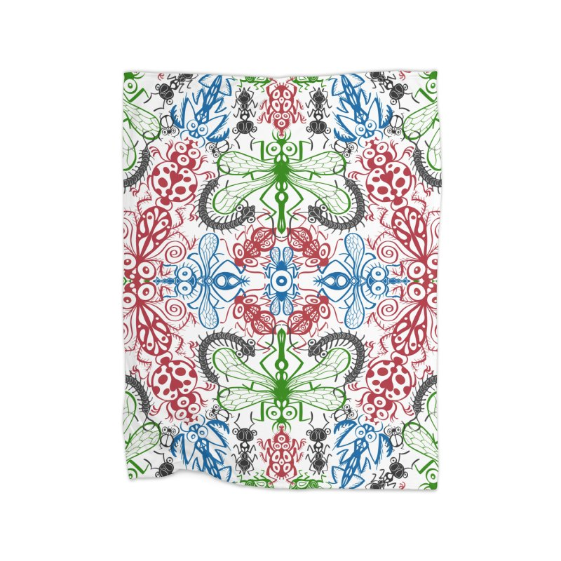 Funny bugs going for a beautiful choreography pattern design Home Blanket by Zoo&co's Artist Shop