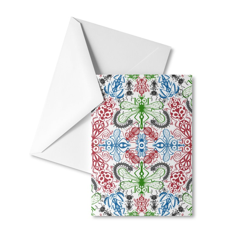Funny bugs going for a beautiful choreography pattern design Accessories Greeting Card by Zoo&co's Artist Shop