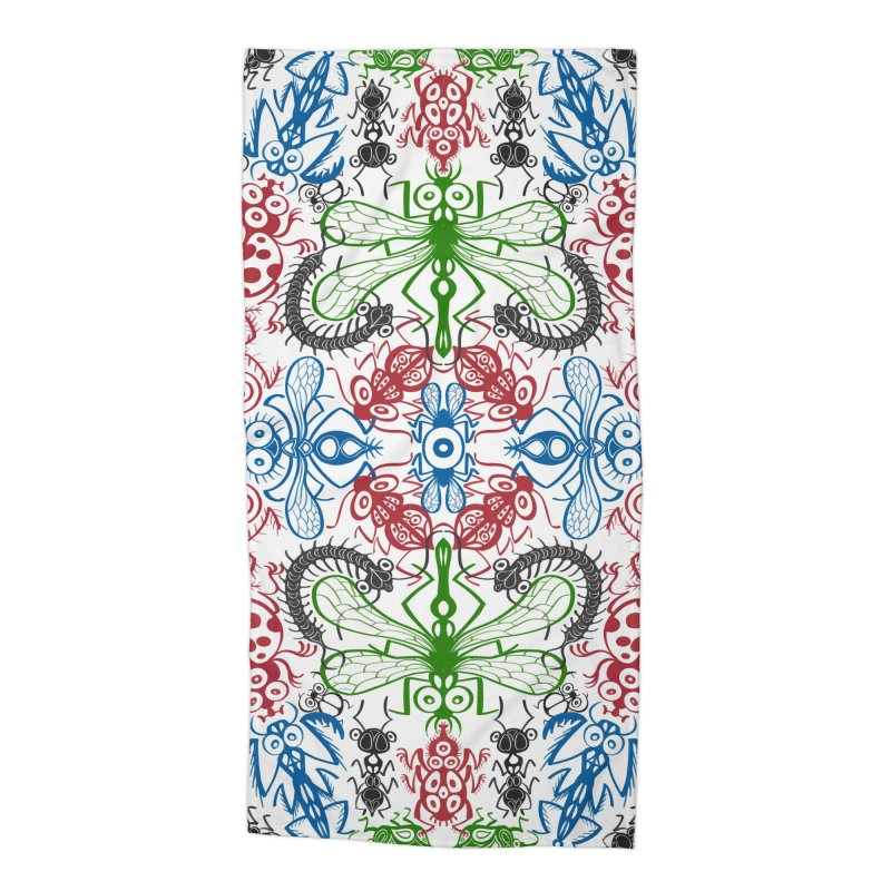 Funny bugs going for a beautiful choreography pattern design Accessories Beach Towel by Zoo&co's Artist Shop