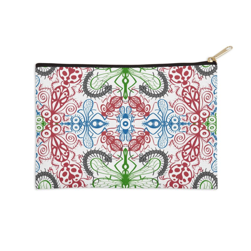 Funny bugs going for a beautiful choreography pattern design Accessories Zip Pouch by Zoo&co's Artist Shop