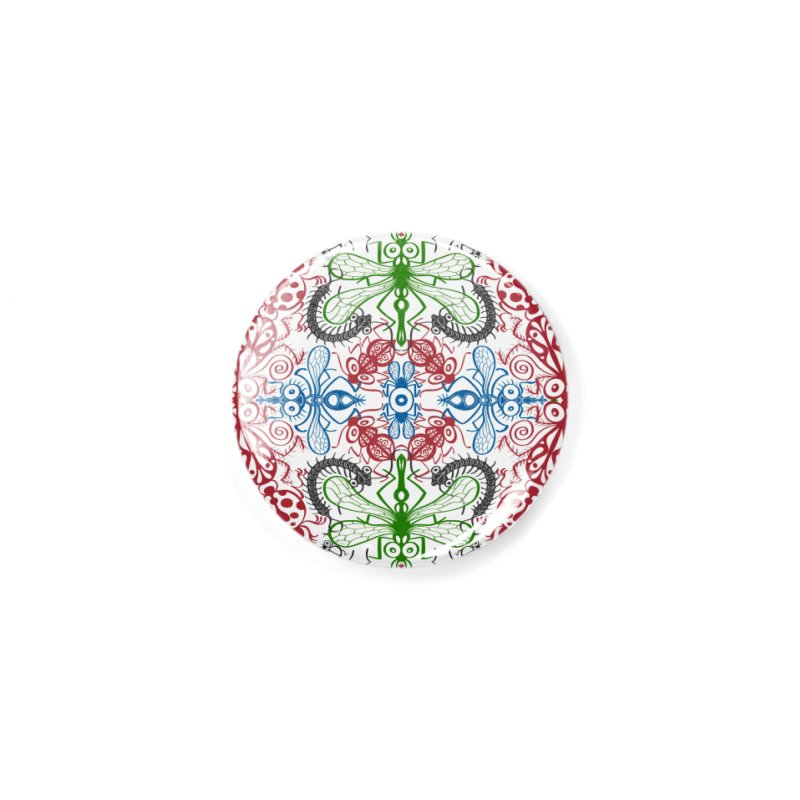 Funny bugs going for a beautiful choreography pattern design Accessories Button by Zoo&co's Artist Shop