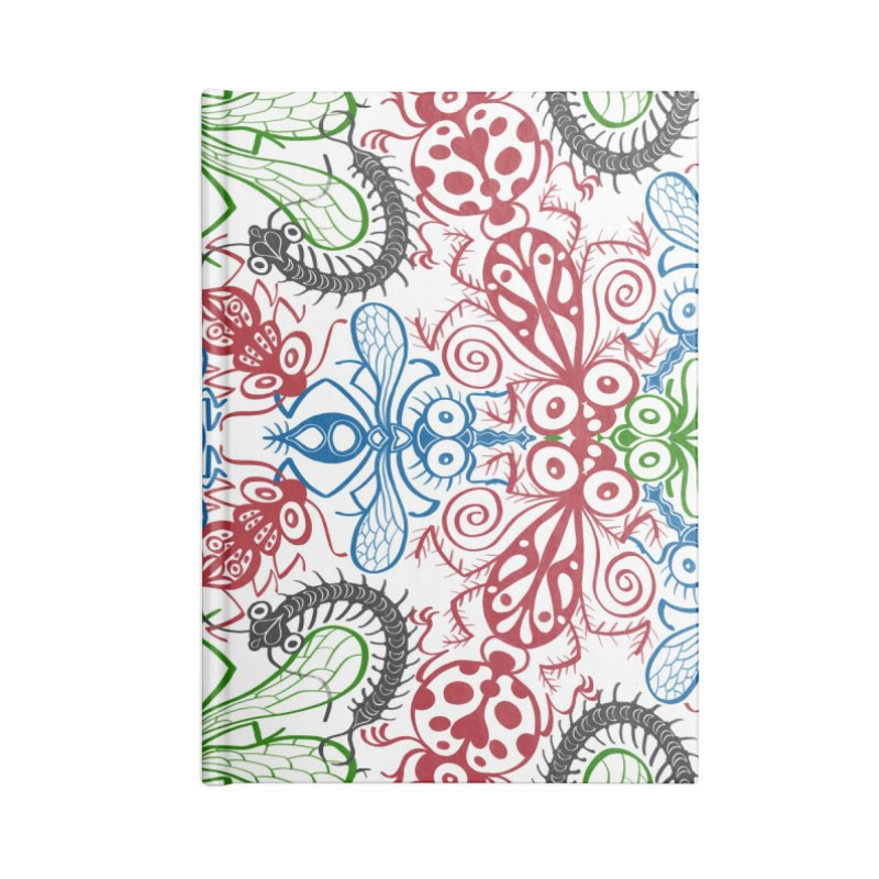 Funny bugs going for a beautiful choreography pattern design Accessories Notebook by Zoo&co's Artist Shop