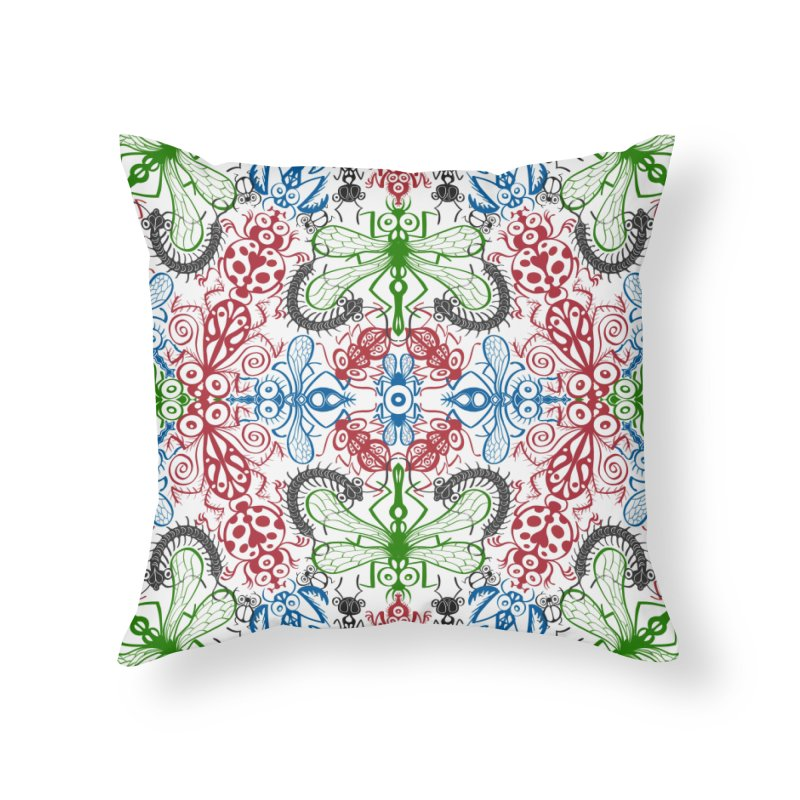 Funny bugs going for a beautiful choreography pattern design Home Throw Pillow by Zoo&co's Artist Shop