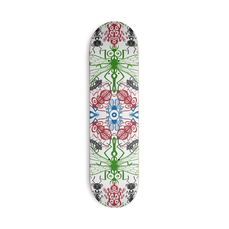 Funny bugs going for a beautiful choreography pattern design Accessories Skateboard by Zoo&co's Artist Shop