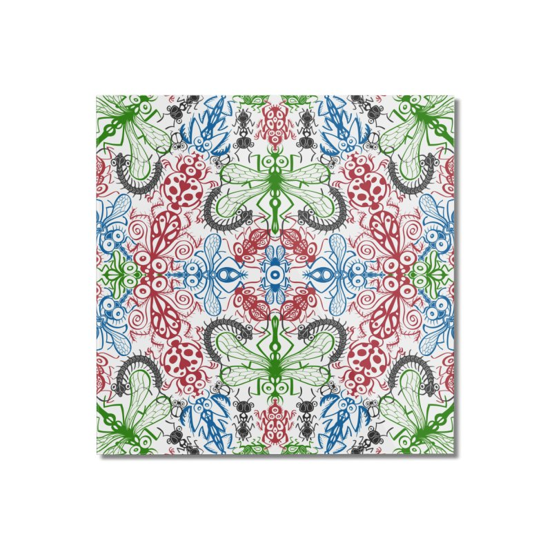 Funny bugs going for a beautiful choreography pattern design Home Mounted Acrylic Print by Zoo&co's Artist Shop