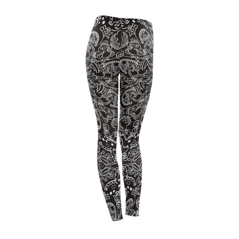 Dark creatures from deep waters mandala design Women's Bottoms by Zoo&co's Artist Shop