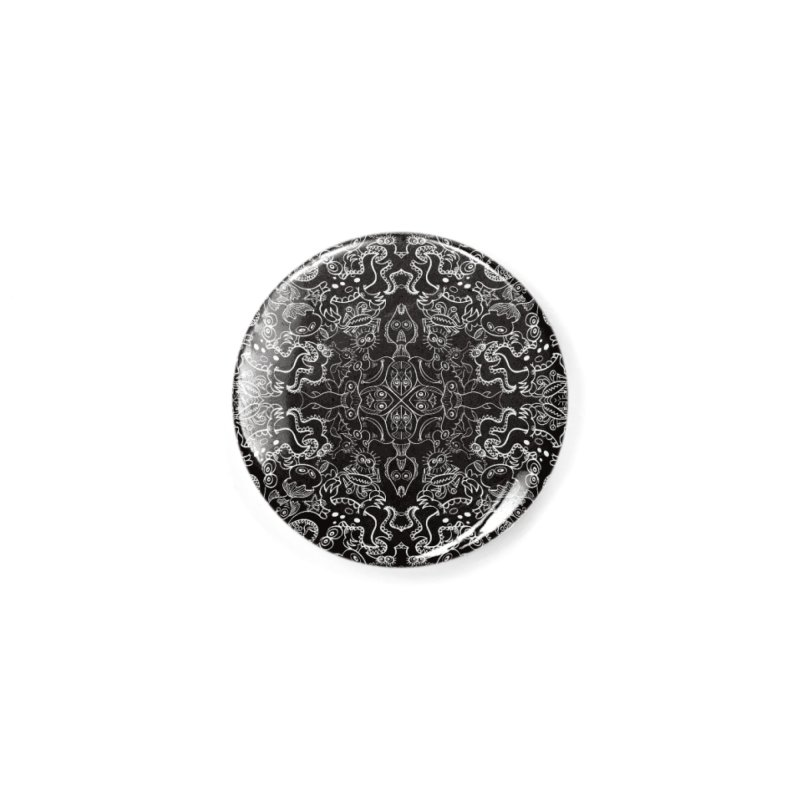 Dark creatures from deep waters mandala design Accessories Button by Zoo&co's Artist Shop