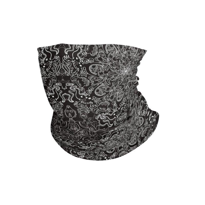 Dark creatures from deep waters mandala design Accessories Neck Gaiter by Zoo&co's Artist Shop